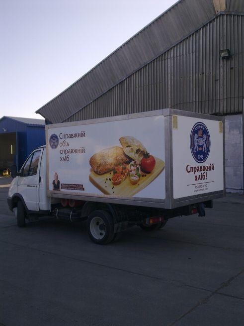 брендирование хлебного транспорта 3